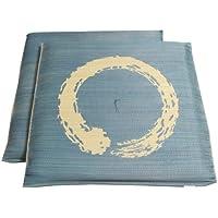 イケヒコ い草 座布団 国産 捺染返し 『『大関 2枚組』 ブルー 約55×55cm×2P