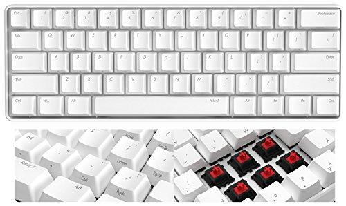ikbc 独Cherry軸採用 New Poker2 61キー メカニカルキーボード USB接続 日本語入力対応 (ホワイト, 赤軸)