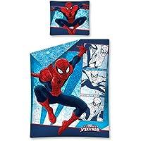 0635 Spiderman スパイダーマン 布団カバー + 枕カバー セット シングル [並行輸入品]