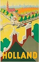 オランダHollandヴィンテージポスター(アーティスト: ERKELENS ) C。1945 24 x 36 Giclee Print LANT-63551-24x36