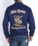 (シュガーケーン) SUGAR CANE × ROAD RUNNER ロードランナー 刺繍 コットン スポーツジャケット COTTON SPORT JACKET W/EMB'D SC13792-128 (36(S), 128(ネイビー))