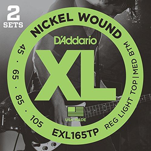 D'Addario ダダリオ ベース弦 ニッケル Long Scale .045-.105 EXL165TP 2setパック 【国内正規品】