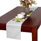 LKCDNG テーブルランナー 和風の侍 クロス 食卓カバー 麻綿製 欧米 おしゃれ 16 Inch X 72 Inch (40cm X 182cm) キッチン ダイニング ホーム デコレーション モダン リビング 洗える