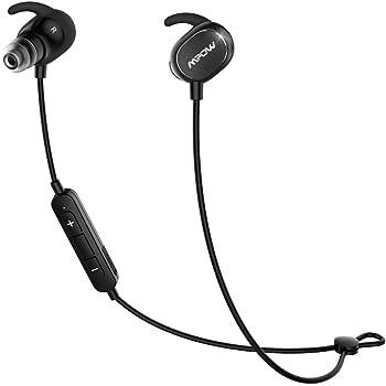 Mpow Dunmer スポーツイヤホン Bluetooth4.1ヘッドセット マイク内蔵 ハンズフリー 通話 AptX対応 iPhone&Android などに対応 IPX4防水仕様 ハンズフリー通話 CVC6.0 ノイズキャンセリング搭載【技適認証済み】【18ケ月の保証】 MP-BH035AB