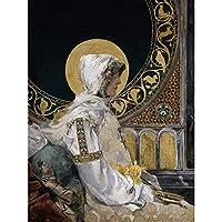 Joaquin Sorolla Santa In Prayer 1888 Painting Large Wall Art Poster Print Thick Paper 18X24 Inch ペインティング壁ポスター印刷