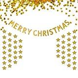 キラキラ ゴールド ペーパーバナー クリスマス装飾 パーティー装飾