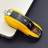 ONTTO ポルシェ スマート キーケース キーカバー オシャレ 手触りいい 高級 キーホルダー Porsche カレラ ボクスター ケイマン カイエン マカン パナメーラ リモコンキー ケース 車用 ABSプラスティック