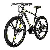 マウンテンバイクX1 29インチ フレーム自転車 スチールフレーム 21速シフト 左3速 右7速シフト 3本スポークホイール自転車 黄