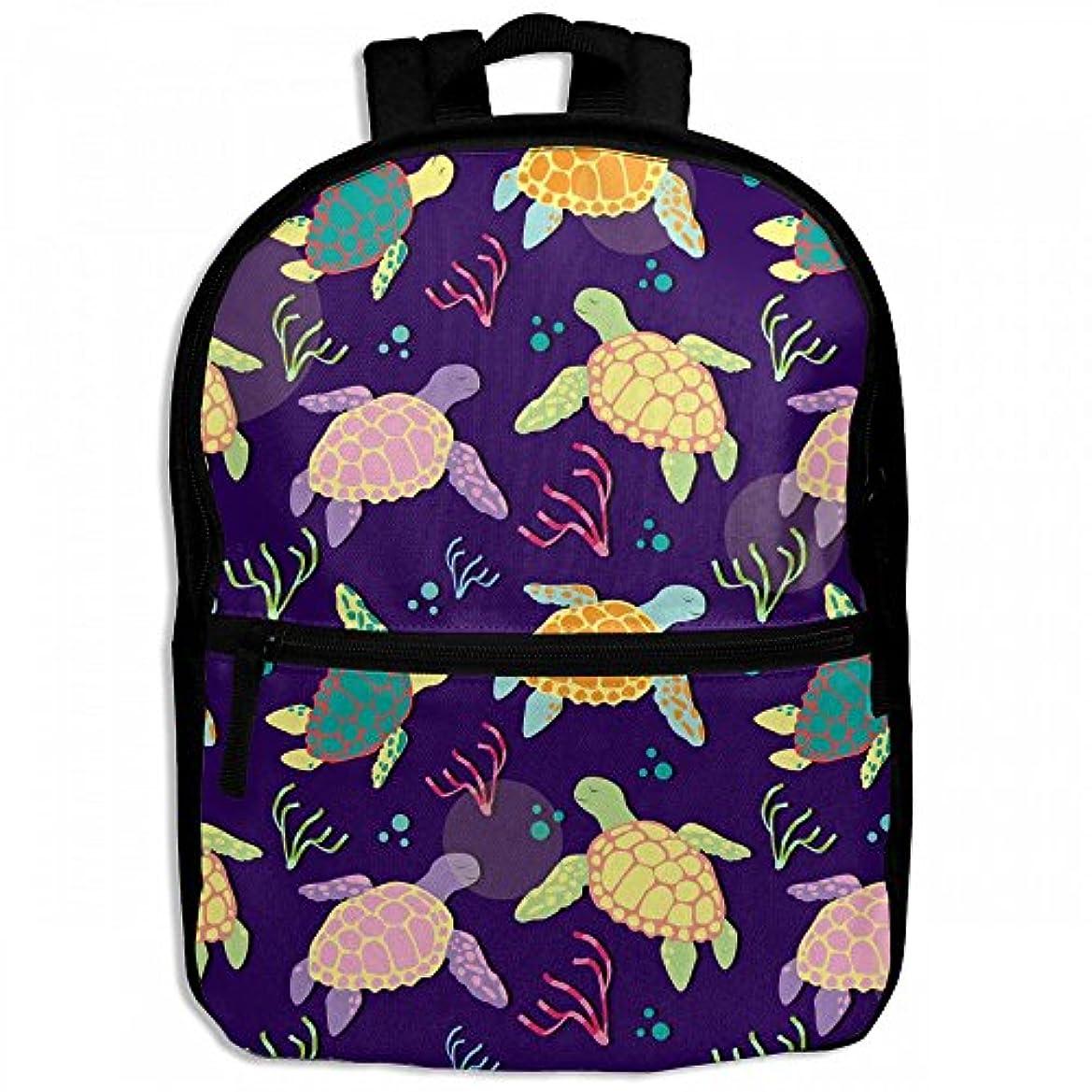 腐食する戸惑う後継キッズバッグ キッズ リュックサック バックパック 子供用のバッグ 学生 リュックサック ウミガメ 亀 動物 アウトドア 通学 ハイキング 遠足