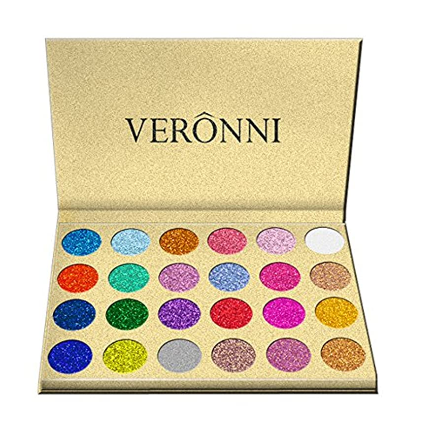 懸念冊子特異性Akane アイシャドウパレット VERONNI ファッション スパンコール 人気 超魅力的 綺麗 真珠光沢 マット ラメ 長持ち グリッターパウダー チャーム おしゃれ 持ち便利 Eye Shadow (24色)