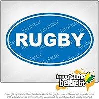 ラグビー rugby 18cm x 11cm 15色 - ネオン+クロム! ステッカービニールオートバイ