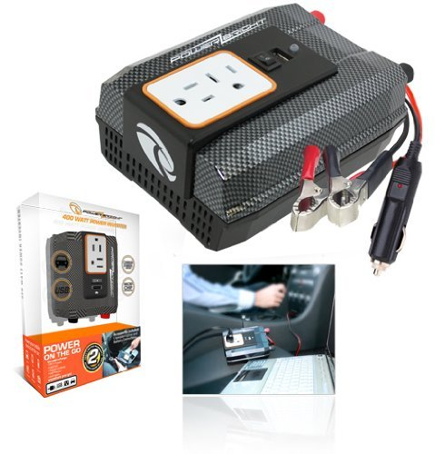 Power Bright XR400-12 Power Inverter 400 Watt 12 Volt DC To 110 Volt AC with USB Charging Port [並行輸入品]