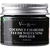 Coldwhite 活性炭天然歯ホワイトニングパウダーココナッツ歯磨き粉 - 100%天然木炭エナメル - セーフいいえ添加物なしフィラーなし人工香料