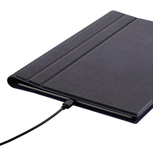 『【2015年モデル】ELECOM SONY Xperia Z4 Tablet フラップケース イタリアンソフトレザー素材レザー キーボード同時収納対応 ブルー TBM-SOZ4AWDTKBU』の4枚目の画像