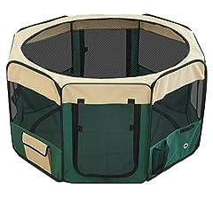 ottostyle.jp 折りたたみ八角形ペットサークル Mサイズ グリーン