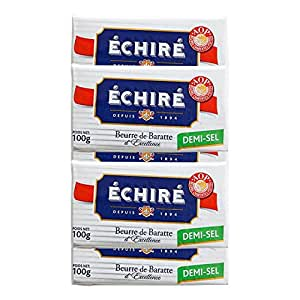 【エシレ バター 】【有塩】 フランスAOP伝統エシレバター (100gx5個セット) まとめ買い! Echire AOP Charentes Poitou DEMI-SEL
