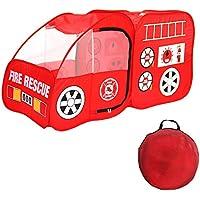 YYAO キッズプレイテント ファイヤートラック ポップアッププレイテント 屋内&屋外プレイハウス 折りたたみ式テントおもちゃ 幼児 男の子 女の子用