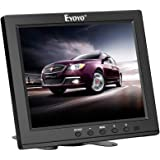 Eyoyo 8 Inch HDMI Monitor 1024x768 Resolution Display Portable 4:3 TFT LCD Mini HD Color Video Screen Support HDMI VGA BNC AV
