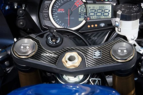 PRINT(プリント) トップブリッジステッカー カーボン柄 GSX-R600/750 06-16 PPS-S21P