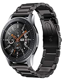 VICARA Compatible Samsung Galaxy Watch (46mm)バンド 22mm ステンレス 調整工具付き 錆びにくい スチール オシャレ 金属製 高級腕時計 ビジネス 替えベルトCompatible Samsung Galaxy Watch 46mm SM-R800/SM-R805(ブラック)