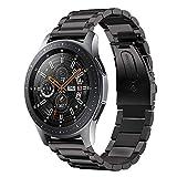 VICARA Compatible Samsung Galaxy Watch (46mm)バンド 22mm ステンレス 調整工具付き 錆びにくい スチール オシャレ 金属製 高級腕時計 ビジネス 替えベルトCompatible Samsung Galaxy Watch 46mm SM-R800 SM-R805(ブラック)