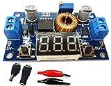 降圧型 可変 DC-DC コンバーター 基盤 + デジタル電圧計 5A 75W