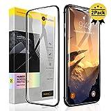 【Humixx】iPhone XR ガラスフィルム 2枚入り 日本旭硝子製 最高硬度10H 強化ガラス 9Dラウンドエッジ加工 全面保護 ガイド枠付き 貼りやすい 高鮮明 透過率99.9% アンチグレア 気泡防止 指紋防止