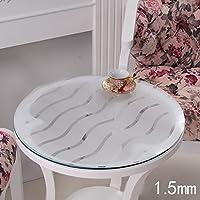PVCテーブルクロス防水ソフトガラステーブルマットテーブルクロスクリスタルプレート ( サイズ さいず : 135*135cm )