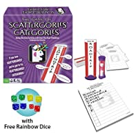 Scattergories Categories Board Game w/ Free Rainbow Dice Pack