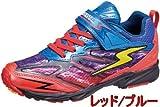 【SUPER STAR】 スーパースター SS J721 イナズマスプリンター バネのチカラ パワーバネ 子供靴 スニーカー 男の子 (21.5cm, レッド/ブルー)