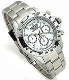 TECHNOS テクノス メンズ腕時計 クロノグラフ ホワイトダイヤル 工具ブレスセット TSM401SW [並行輸入品]