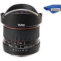 Vivitar 8mm ultra-wide F / 3.5Fisheye Lens for Canon EOS Rebel t6s t6i、、sl1、t5、t5i、t4i , t3, t3i , t1i , t2i , XSi , XS , XTI , XT , 80d , 70d , 60d , 60da , 50d , 40d , 30d , 20d , 10d , 7dデジタルSLRカメラ