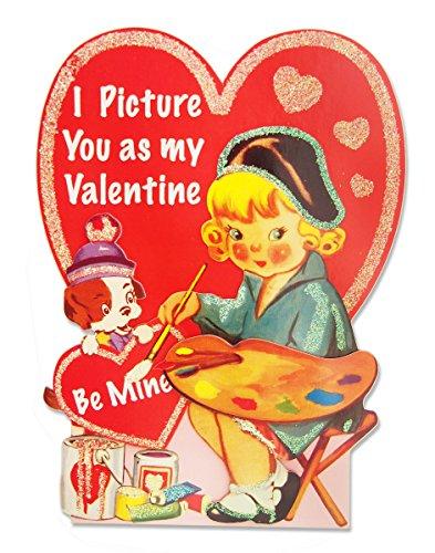 パンチスタジオ 【バレンタイン】 立体 レトロ バレンタインカード 封筒セット (画家×犬) 53217