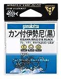 がまかつ(Gamakatsu) カン付伊勢尼 フック (黒) 8号 釣り針