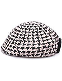 ベレッツビンテージヴィンテージ画家帽子レディース秋冬ぬいぐるみハットファッションちょう結びトップハット (色 : 白)