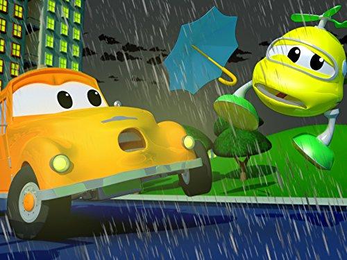 ヘリコプターのベビーヘクターに空飛ぶ傘が衝突! / モンスタートラックのマーリーがスタント失敗!