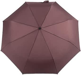 折り畳み傘 ワンタッチ自動開閉式折りたたみ傘 三つ折り LEDランプ搭載 反射テープ付き 頑丈な10本親骨 安全反射傘 晴雨兼用 男女兼用 通勤通学に