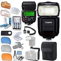 Canonスピードライト430ex iii-rtフラッシュCanonスピードライトケース+ TTLコード付き+フラッシュLブラケット+フラッシュDiffusers + 4高容量充電式単三電池&充電器+アクセサリバンドル