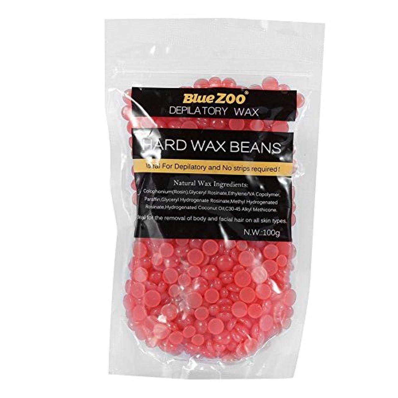 入札出します爆発物ワックス脱毛ワックスヒーター+ 4 x 100g異なるワックス豆+ 10個ワックススティックプロフェッショナルワックス脱毛セット(いちご)