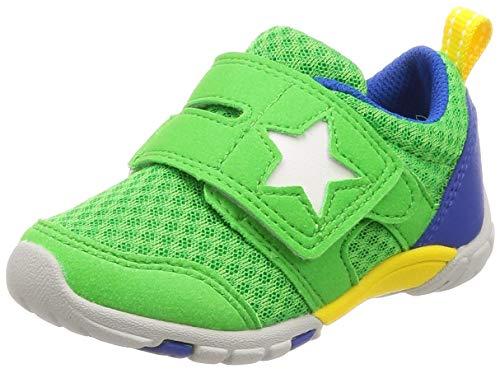 b699e3b73a284  ムーンスター  運動靴 通学履き マジック 14-21cm(0.5cm有) 2E キッズ MS C2166 グリーン 19.5 cm 子ども の足の正しい成長をサポートする機能を搭載した「ムーン ...