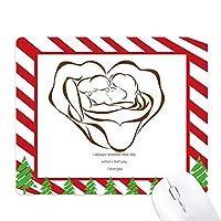 バラは愛のバレンタインのスケッチfuying絵 ゴムクリスマスキャンディマウスパッド