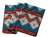 Ruth&Boaz エスニック ネイティブ柄 ブランケット (M) オレンジ (150×138cm) (ORANGE, NORMAL)
