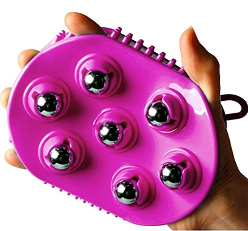 人工ペック毎日Total House シャワーマッサージ手袋ビューティーシャワーマサジボルシリコンマッサージ機のマッサージ手袋シリコン手袋マッサージ 360度回転ステンレススチール 海外直送品 (Shower Massage Gloves Beauty Shower Massage Ball Silicone Massager Massage Gloves Silicone Gloves Massage 360 degree rotating stainless steel) (Purple)