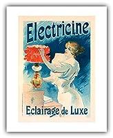 """レンフィールドのファインアート - Lucien Lefevre ポスター : 「エレクトリシンラグジュアリーライト」 (1897) - ジークレーファインアートプリント 16"""" x 20"""" (Image: 12.25"""" x 17"""")"""