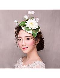 ヨーロッパのレトロな花嫁 Fascinator アンチ本物のフラワーハットヘアピンアクセサリーカクテル