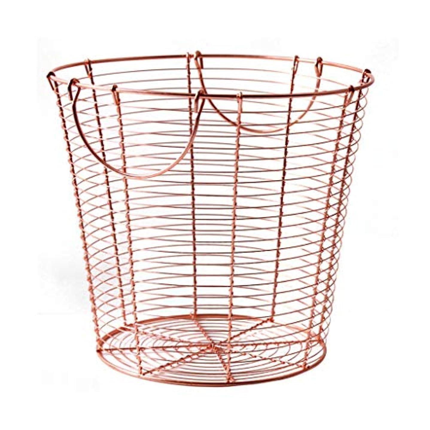 宅配便税金香水錬鉄製の収納バスケットの寝室の障害物、ハンドハンドルデザイン、ローズゴールド SMMRB