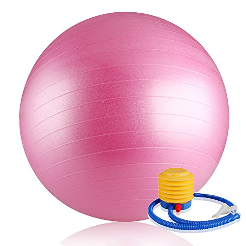 WIKOOL バランスボール ヨガボール 55cm エクササイズ 体幹トレーニング ポンプ付Fitnes Exercise Gym Fit Training Yoga Ball