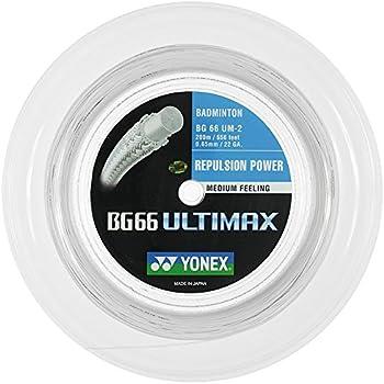 YONEX BG65Ti Badminton String 200 m Reel-Blanc