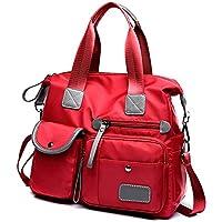 Apostasi Portable Women Travel Shoulder Bag, Large Tote Shoulder Handbag with Zipper Nylon for Women Mobile Phone Cosmetic