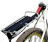【 簡単 取付 自転車 荷台 】 自転車 用 軽量 リア キャリア 後部 荷台 耐 荷重 : 20kg スポーツ バイク ツーリング ゴム バンド 付き SD-REARK